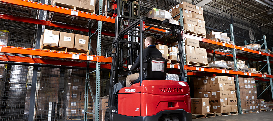 counterbalanced forklift, raymond forklift