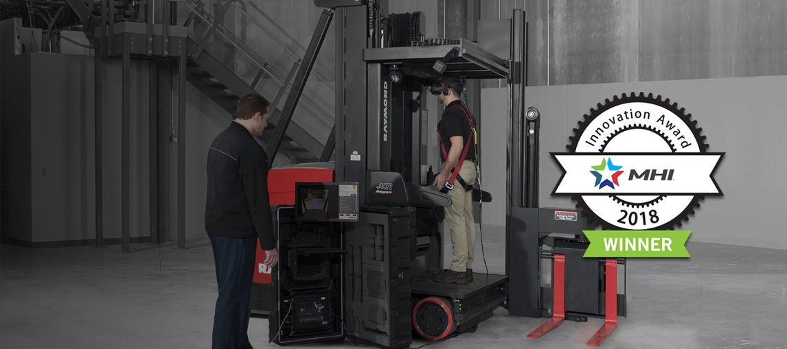 virtual reality simulator, forklift training, innovation award