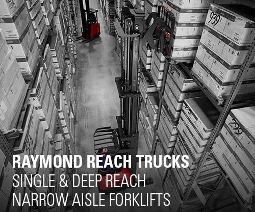 reach truck, reach trucks, narrow aisle forklift