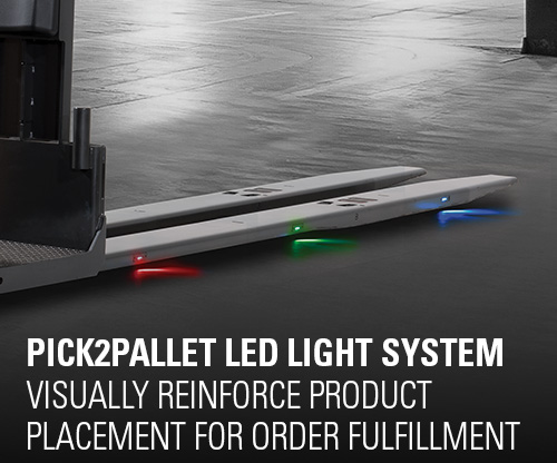 pcik2pallet, led light system, order fulfillment