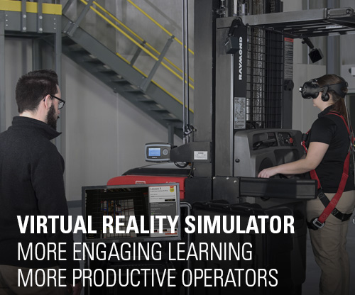 virtual reality simulator, forklift training