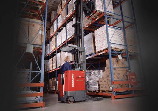 Raymond developed the first AC powered Reach truck