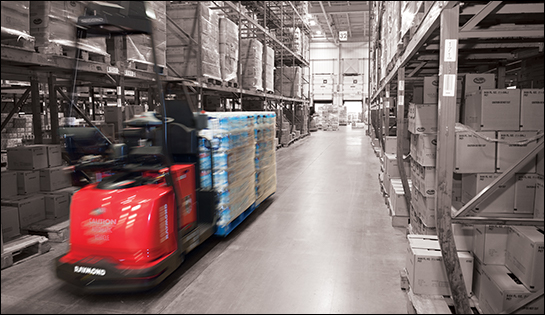 automated guided vehicles, raymond courier, automated forklift