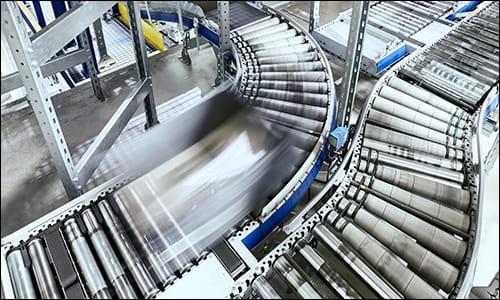 warehouse conveyor, conveyor sorting system, automated conveyor