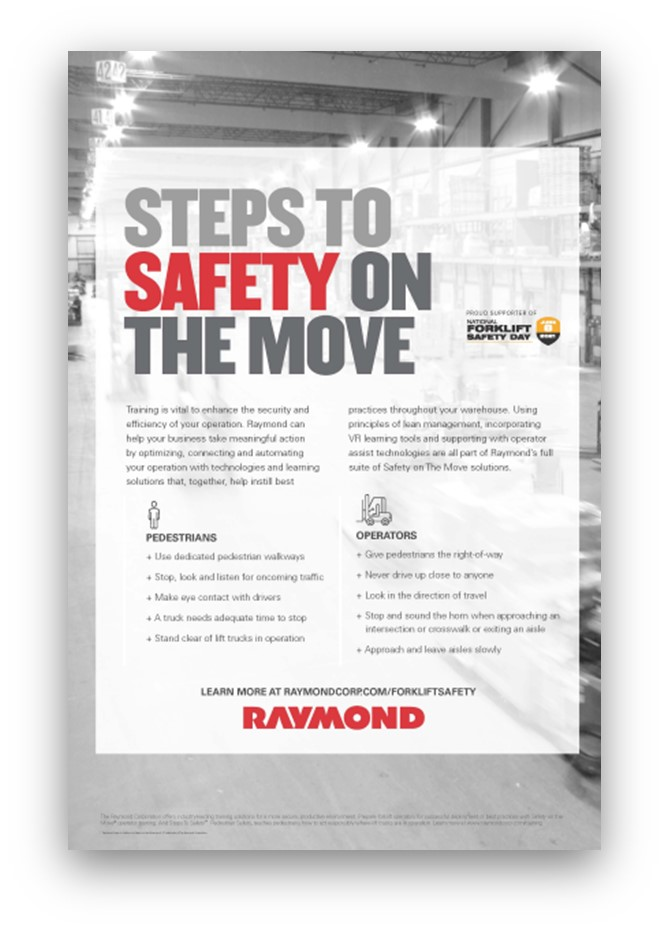 Grey and White Safety On The Move Poster that is available for order.