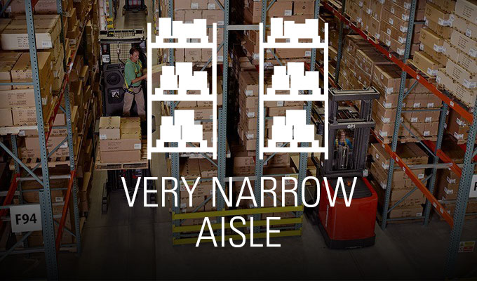 very narrow aisle