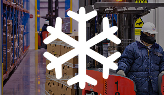 cold storage, industry solutions, forklift application