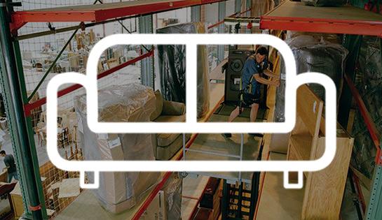furniture handling, industry solutions, forklift application