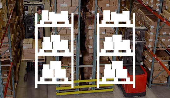 very narrow aisle, industry solutions, forklift application