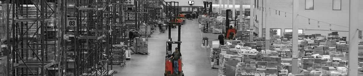 reach forklift warehouse