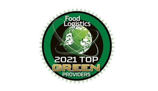 2021 Food Logistics Top Green Providers award goes to Raymond.