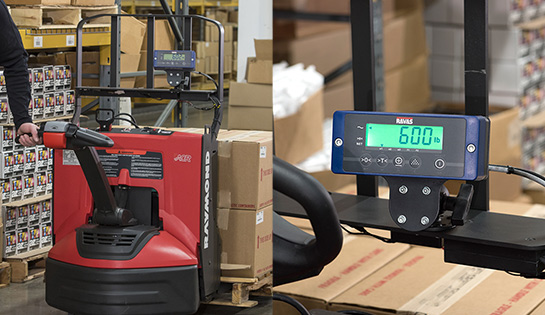 walkie pallet jack, weigh scale