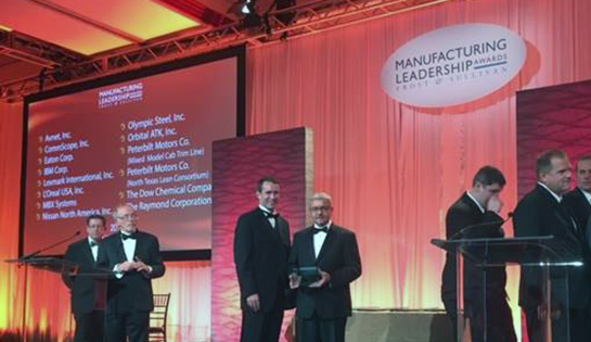 Raymond Presented with 2015 Manufacturing Leadership Award for Operational Excellence