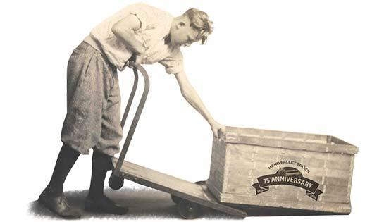 Raymnd hand pallet jacks 75th anniversary