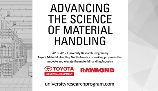 University Research Program, Toyota. Toyota Material Handling ...