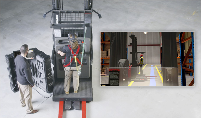 forklift training, virtual reality training, vr forklift