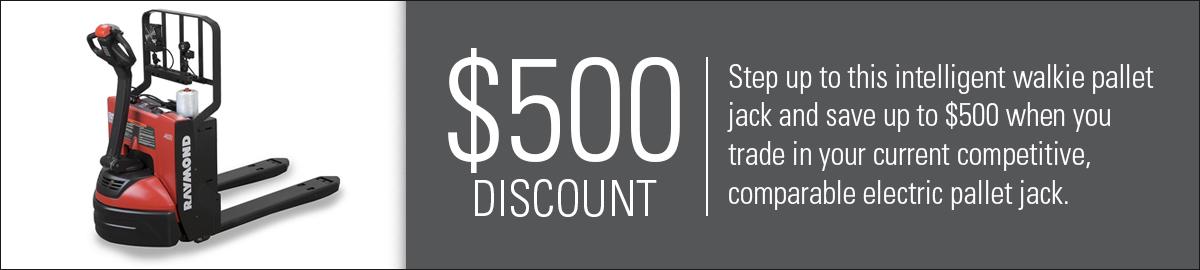 pallet jack discount, pallet jack promotion, electric pallet truck sale