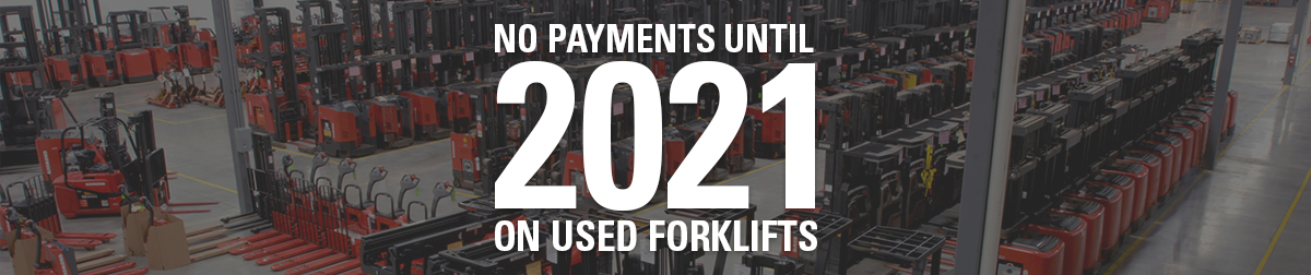 leasing promotion, no payments until 2021, used equipment