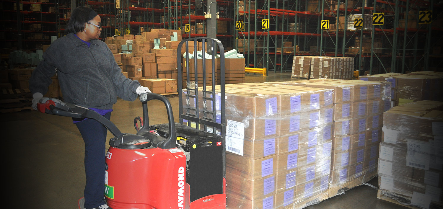 PartylIte warehouse uses Raymond material handling solutions