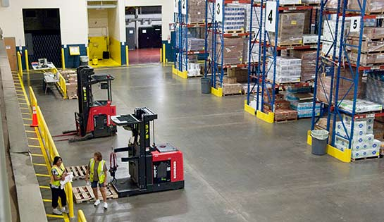 Raymond forklifts at UNFI