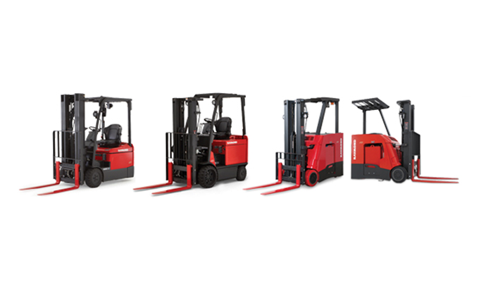 Raymond forklifts, Stand up forklift, sit down forklift, fork lift