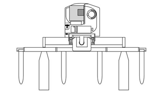 Raymond 7310 4-Directional Reach Truck Auxiliary Carriage Option