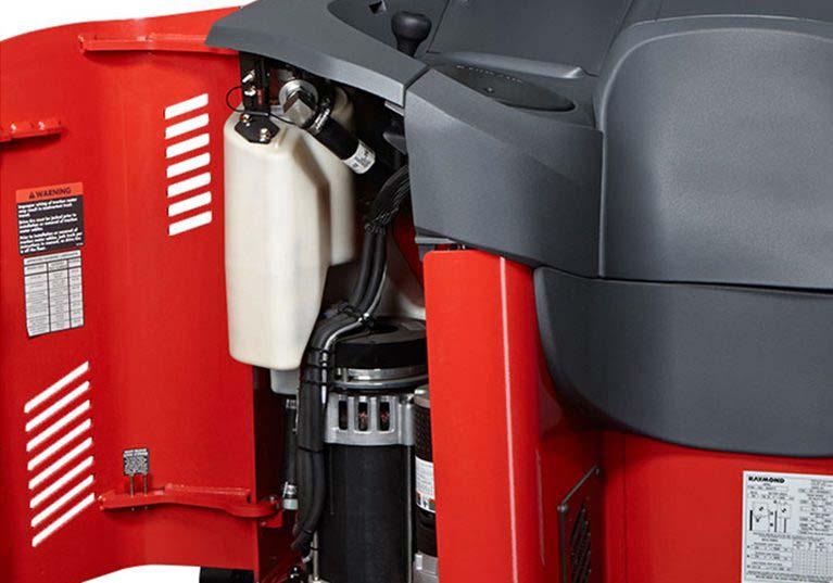 Raymond 7310 4-Directional Reach Truck, Long Load Forklift maintenance access