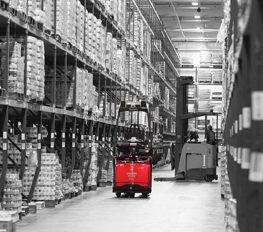 Raymond Courier Automated Lift Truck in Warehouse
