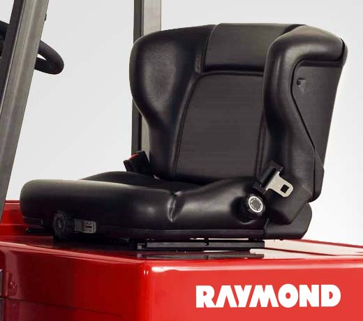 Raymond 4450 Sit Down Counterbalanced Forklift adjustable premium seat