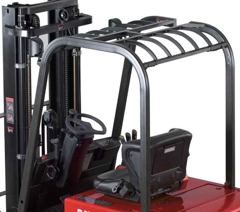 Raymond 4450 Sit Down Counterbalanced Forklift Overhead Guard Design