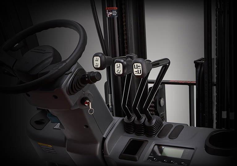 Sit Down forklift controls