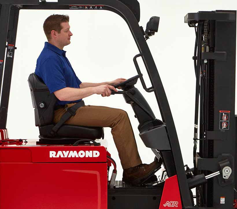 Raymond Forklift compartment
