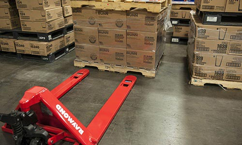 Raymond 4-Way pallet trucks