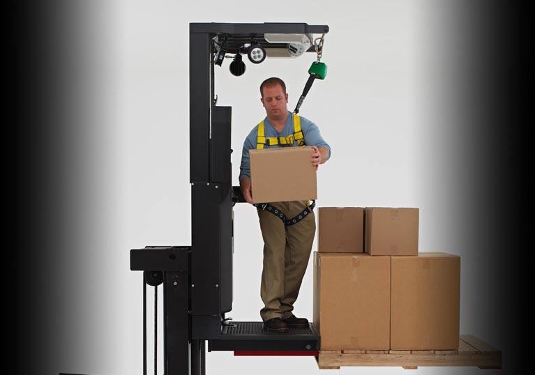 Raymond 5600 Order Picker Trucks Case Picking Window