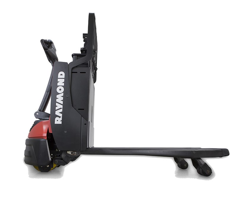 Raymond motorized pallet jack, power pallet jack on dock