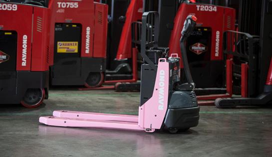 Pink Pallet Jack, 8210 Electric Pallet Jack