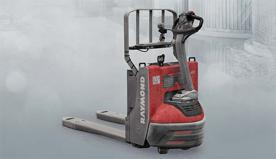 Raymond 8210 power pallet truck cold storage conditioning