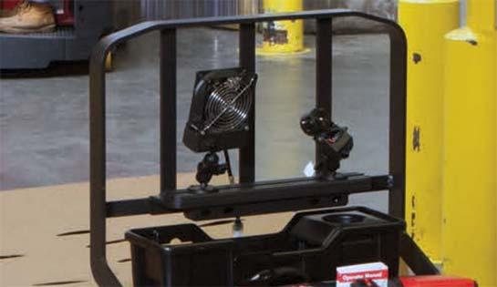 Raymond 8210 walkie pallet truck storage tray