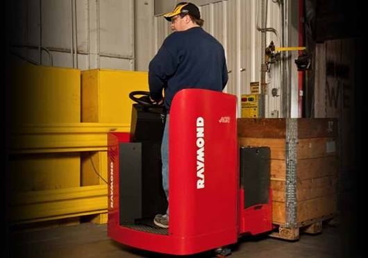 Raymond 8900 Riding Pallet Truck Lift and Go Undercarriage Protection