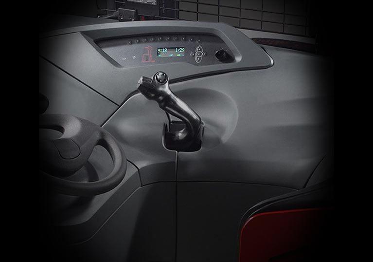 Raymond sidestance reach truck control handle