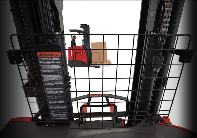 reach lift, Raymond reach fork truck open view mast