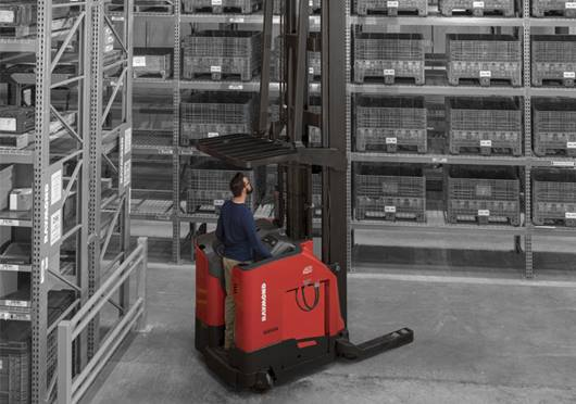 high capacity reach truck, regenerative lowering