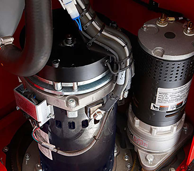 Raymond Forklift Truck, Reach lift AC motor