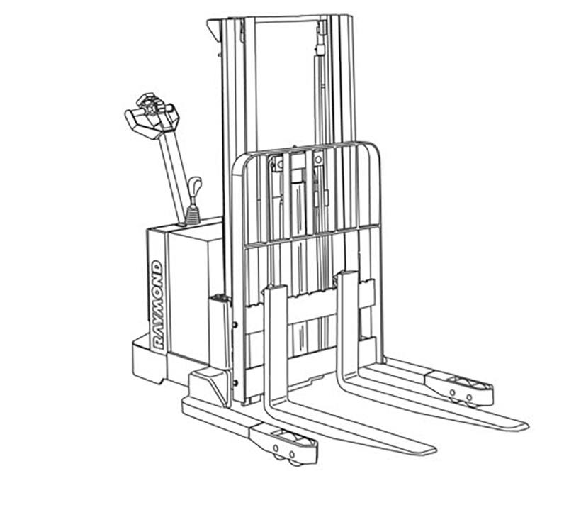Raymond RSS Walkie Straddle Stacker