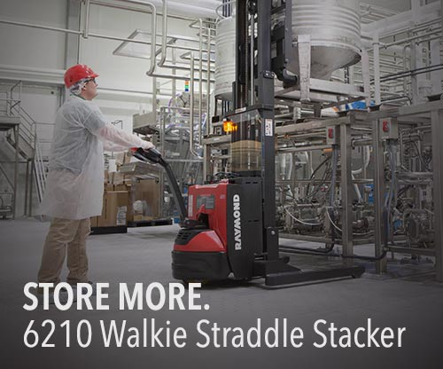 Raymond 6210 Adjustable Baseleg Walkie Straddle Stacker