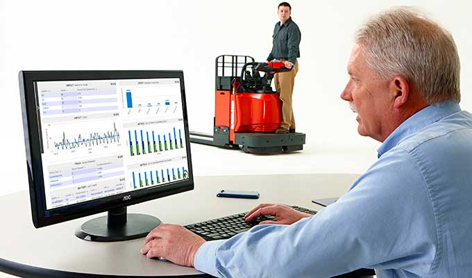 iWAREHOUSE forklift fleet management and warehouse optimization system