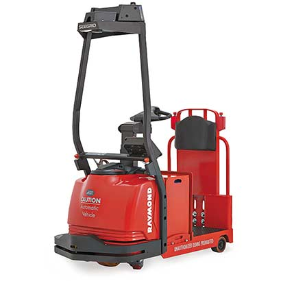 automatic forklift, Raymond Courier, Automated Tow Tractor