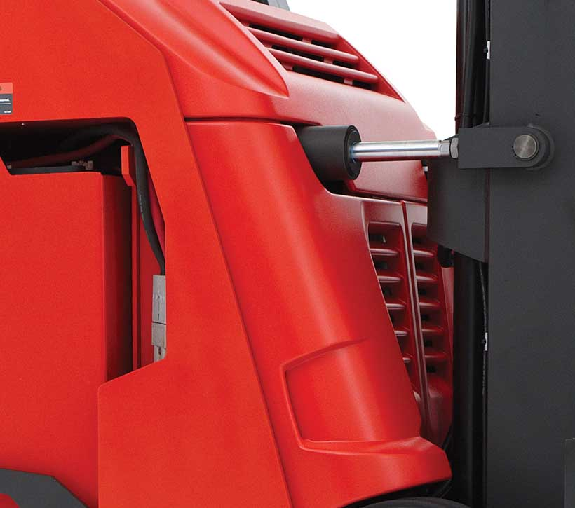 Raymond 4150 Stand Up Counterbalanced Truck Angled Molded Cover Design