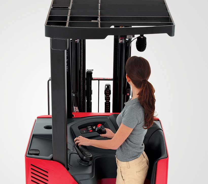 Raymond 4250 Stand Up Fork Truck Open View Mast design
