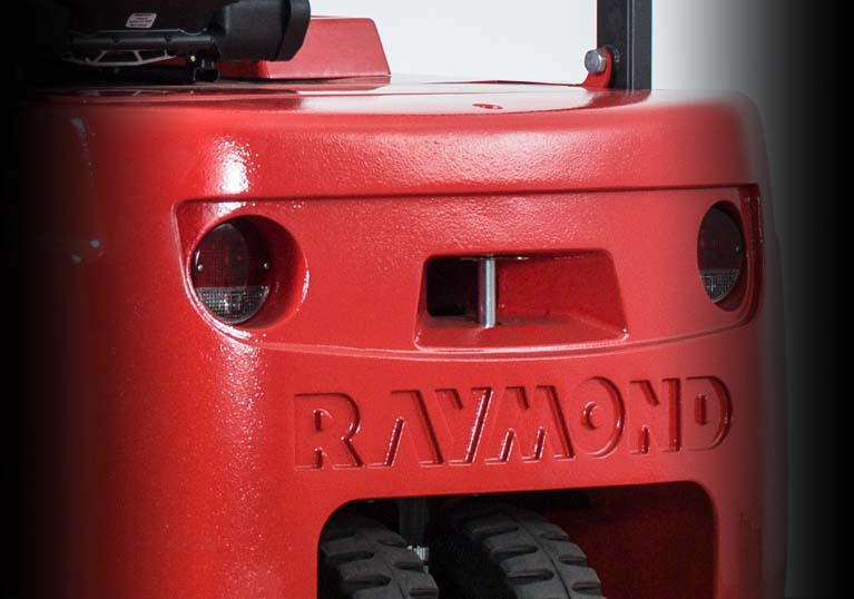 Raymond 4450 Sit Down Counterbalanced Forklift truck brake and reverse lights